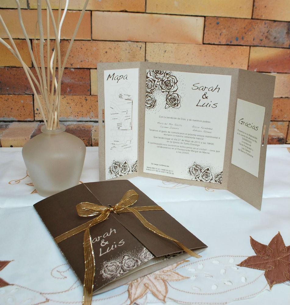 Yunka (Tierra cálida andina) - Realizada en papel reciclado para mezclar la sencillez con la elegancia de un evento campestre.
